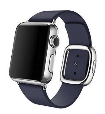 Apple watch modern lederen band 42mm - blauw