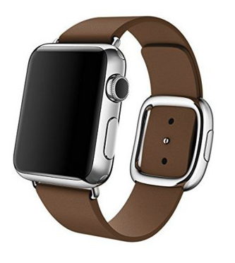 Apple watch modern lederen band 42mm - bruin