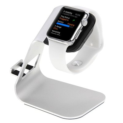 Apple watch & iPhone stand small - Zilver