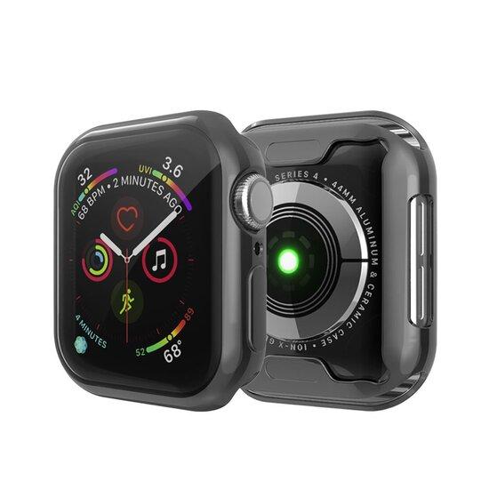 Siliconen case (volledig beschermd) 44mm - Zwart - Geschikt voor Apple watch 44mm