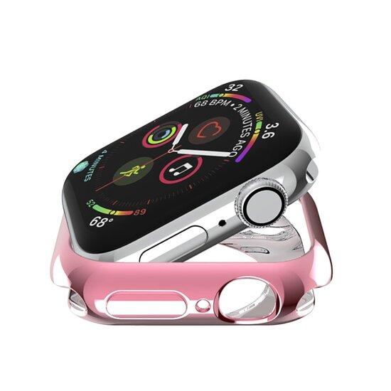 Siliconen case 44mm - Roze - Geschikt voor Apple Watch 44mm