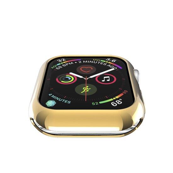 Siliconen case 44mm - Goud - Geschikt voor Apple Watch 44mm