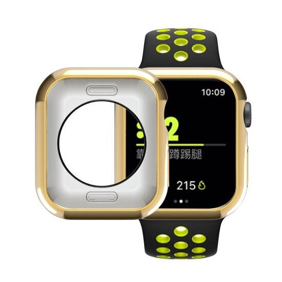 Siliconen case 42mm - Goud - Geschikt voor Apple Watch 42mm