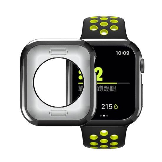 Siliconen case 42mm - Zwart - Geschikt voor Apple Watch 42mm