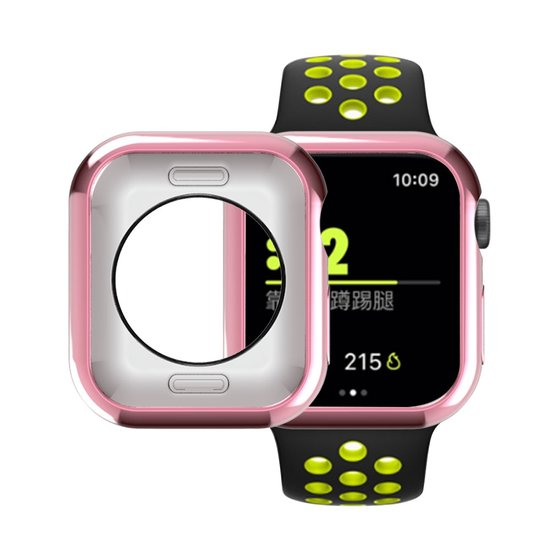 Siliconen case 42mm - Roze - Geschikt voor Apple Watch 42mm