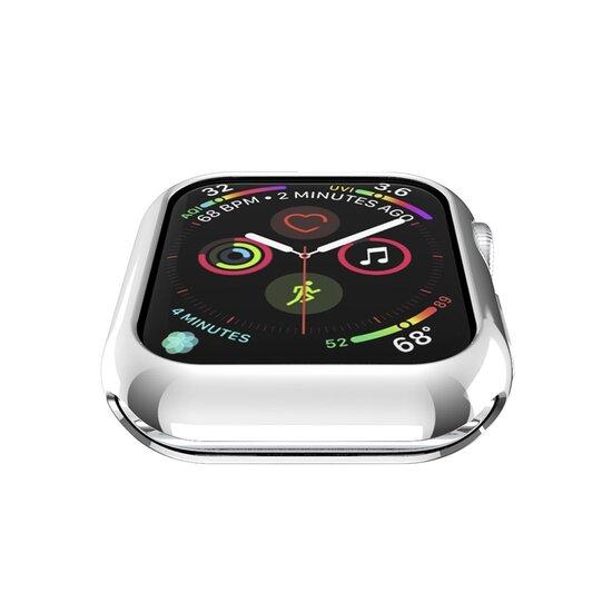 Siliconen case 42mm - Zilver - Geschikt voor Apple Watch 42mm