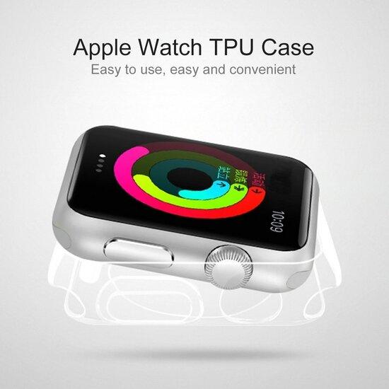 Siliconen Case 42mm - Transparant - Geschikt voor Apple Watch 42mm