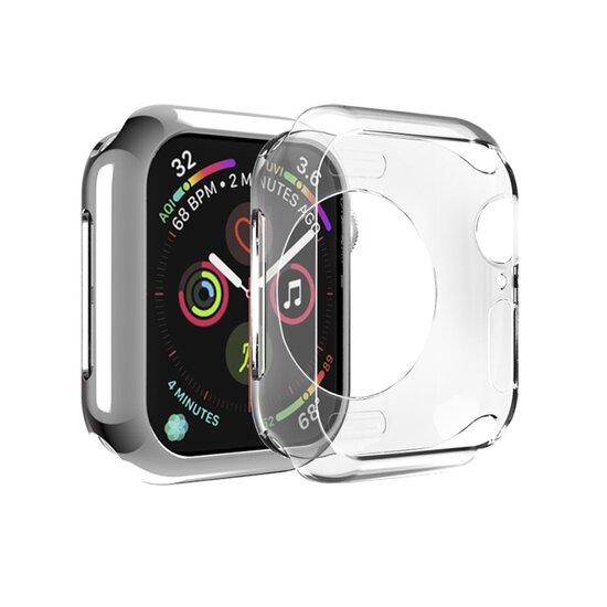 Siliconen case 40mm - Transparant - Geschikt voor Apple Watch 40mm
