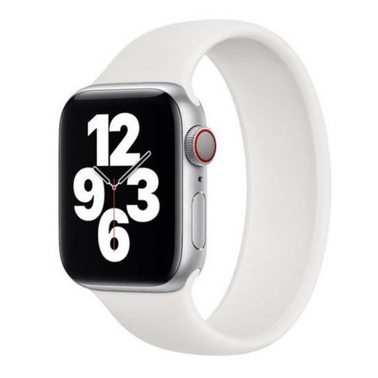 Solo Loop Link serie bandje - Maat: L - Wit - Geschikt voor Apple Watch 38mm / 40mm / 41mm