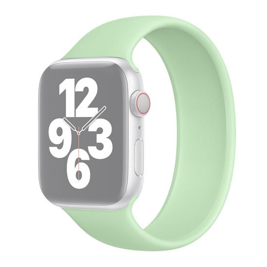 Solo Loop Link serie bandje - Maat: L - Groen - Geschikt voor Apple Watch 38mm / 40mm / 41mm