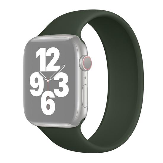 Solo Loop Link serie bandje - Maat: L - Leger Groen - Geschikt voor Apple Watch 38mm / 40mm / 41mm