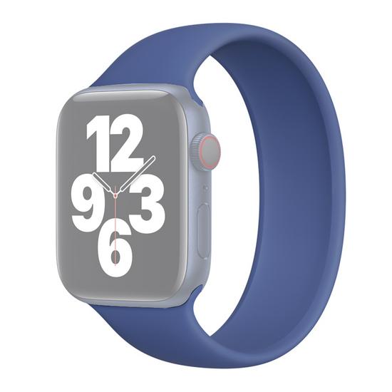 Solo Loop Link serie bandje - Maat: M - Donkerblauw - Geschikt voor Apple Watch 42mm / 44mm / 45mm