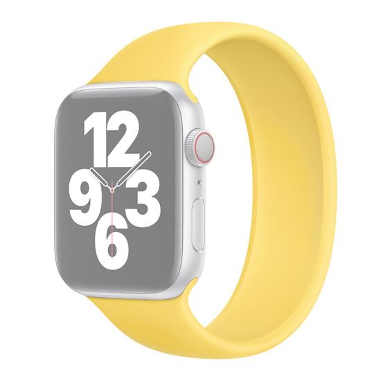 Solo Loop Link serie bandje - Maat: M - Geel - Geschikt voor Apple Watch 42mm / 44mm / 45mm