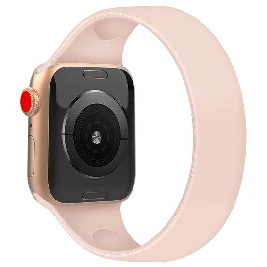 Solo Loop Link serie bandje - Maat: M - Roze - Geschikt voor Apple Watch 42mm / 44mm / 45mm