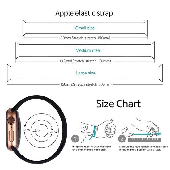 Solo Loop Link serie bandje - Maat: M - Grijs - Geschikt voor Apple Watch 42mm / 44mm / 45mm