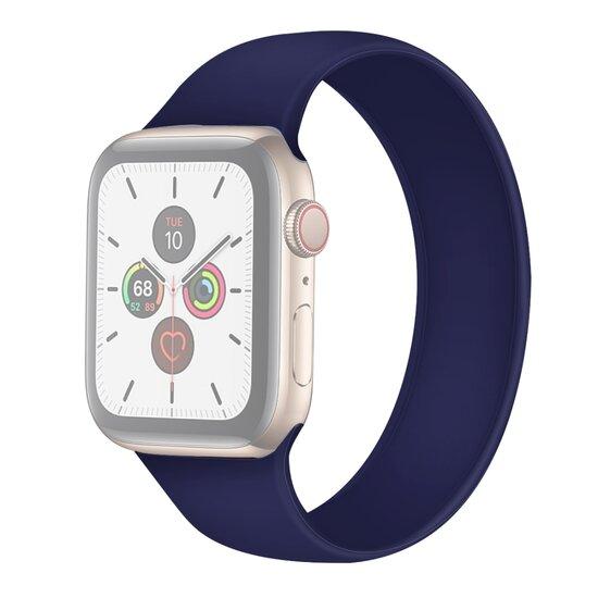 Solo Loop Link serie bandje - Maat: M - Saffierblauw - Geschikt voor Apple Watch 42mm / 44mm / 45mm