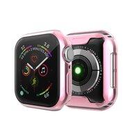 Siliconen case (volledig beschermd) 44mm - Roze - Geschikt voor Apple watch 44mm
