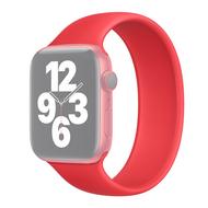 Solo Loop Link serie bandje - Maat: S - Rood - Geschikt voor Apple Watch 42mm / 44mm / 45mm