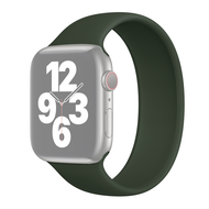 Solo Loop Link serie bandje - Maat: S - Leger Groen - Geschikt voor Apple Watch 42mm / 44mm / 45mm