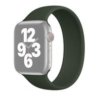 Solo Loop Link serie bandje - Maat: M - Leger Groen - Geschikt voor Apple Watch 38mm / 40mm / 41mm