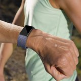 Fitbit Charge 2 siliconen bandje (Large) - Paars_
