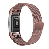 Fitbit Charge 2 milanese bandje (Large) - Rosé goud_