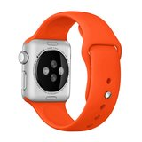 Apple watch 42mm / 44mm rubberen bandje sport - Oranje_