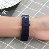 Fitbit Charge 2 Canvas Bandje (Large) - Blauw_