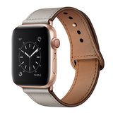 Lederen Apple Watch bandje 42mm / 44mm - Taupe_