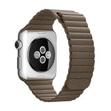 PU leather loop Apple watch 42mm / 44mm bandje - Bruin_