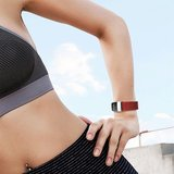 Fitbit Charge 3 & 4 nylon bandje - Donker rood_