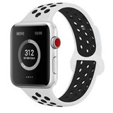 Apple watch sportbandje 42mm / 44mm - Wit + Zwart_