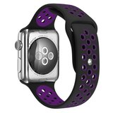 Apple watch sportbandje 38mm / 40mm - Paars + Zwart_