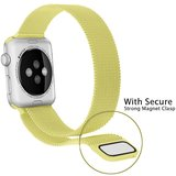 Milanees Apple watch bandje 42mm / 44mm RVS - Olijfgroen_