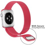 Milanees Apple watch bandje 42mm / 44mm RVS - Roze_