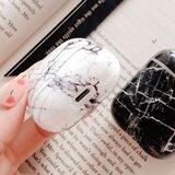 AirPods 1/2 hoesje Marble series - hard case - Marble zwart - Schokbestendig_