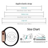 Apple Watch 42/44mm - Maat: S - Solo Loop link series - zwart_