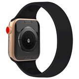 Apple Watch 42/44mm - Maat: M - Solo Loop link series - zwart_
