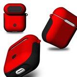 AirPods 1/2 hoesje soft grip - hard case - rood - Schokbestendig_