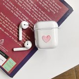 AirPods 1/2 hoesje Painting series - hard case - Red heart - Schokbestendig_