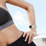 Fitbit Charge 3 & 4 siliconen DOT bandje - Groen / Grijs (Small)_