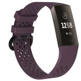 Fitbit Charge 3 & 4 sport bandje (large) - Paars_