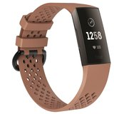 Fitbit Charge 3 & 4 sport bandje (large) - Lichtbruin_