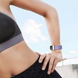 Fitbit Charge 3 & 4 nylon bandje - Licht paars_