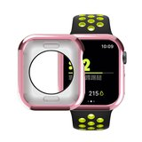 Apple watch 44mm siliconen case - Roze_