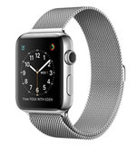 Milanees Apple watch bandje 42mm / 44mm RVS - Zilver_