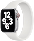 Apple Watch 38/40mm - Maat: M - Solo Loop link series - wit_