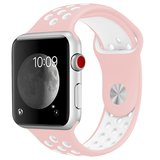 Apple watch sportbandje 38mm / 40mm - Roze + Wit_