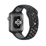 Apple watch sportbandje 38mm / 40mm - Zwart + Grijs_