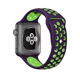 Apple watch sportbandje 42mm / 44mm - Paars + Groen_